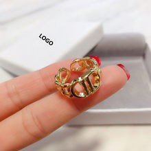 European and American fashion personality charm ladies ring, senior golden letter D1:1 retro, holiday gift, free shipping