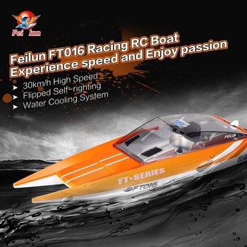 2019 Feilun FT016 RC Boat 30km/h High Speed Racing Remote Control Flipped Water Cooling Boat Electric Toy as Gift for Kids NEW
