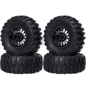 "NEW ENRON 4P 120MM Tyre Tires&2.2"" Metal Beadlock Wheel Hub Rim for 1/10 1:10 RC Crawler Axial SCX10 RR10 Wraith TRX4 KM2 YETI"