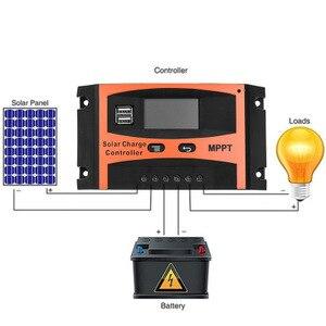 Image 1 - Contrôleur de Charge solaire USB LCD affichage 12V/24V 30A 40A 50A 60A Auto solaire panneau chargeur régulateur batterie au Lithium bricolage
