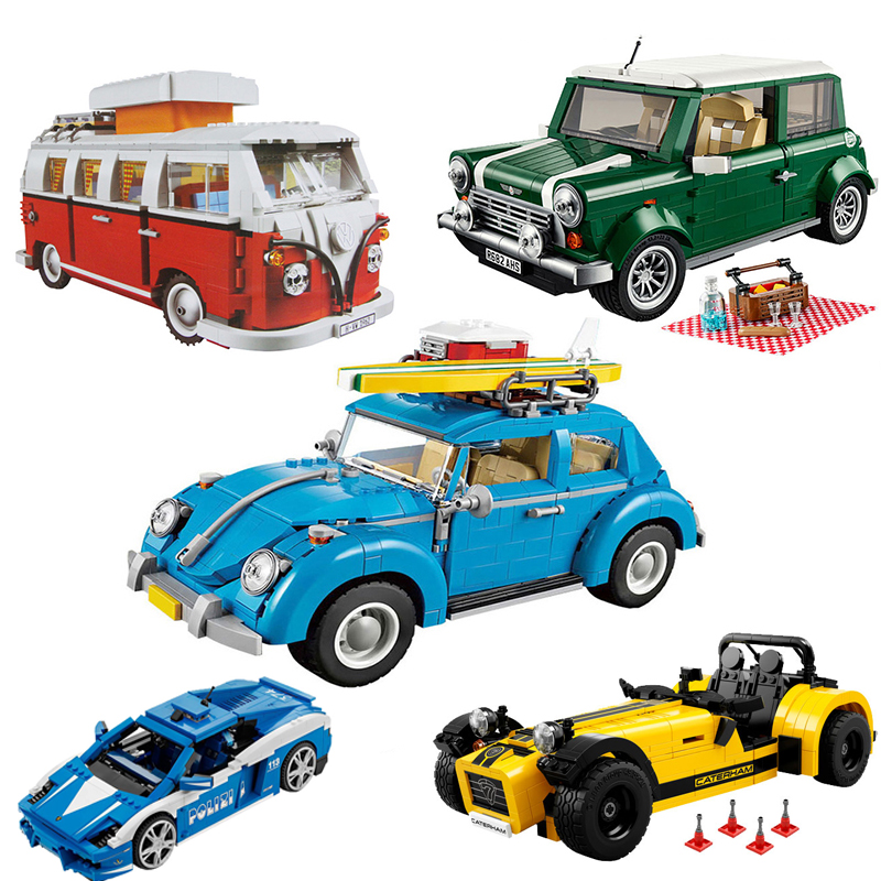 Technic Bricks The T1 Camper Van Car Model Set City Building Blocks  Friends Brick Kids Educational Kids Toys For Children Gifts