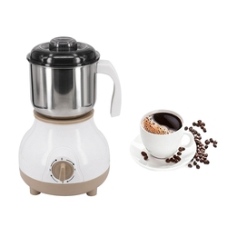 Electric Stainless Steel Coffee Bean Grinder Home Grinding Milling Machine Coffee Accessories(Eu Plug)