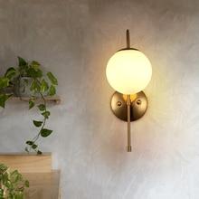 Скандинавский современный золотой настенный светильник со стеклянным шаром, американский Лофт, декоративный настенный светильник, настенный светильник s для дома, Wandlamp