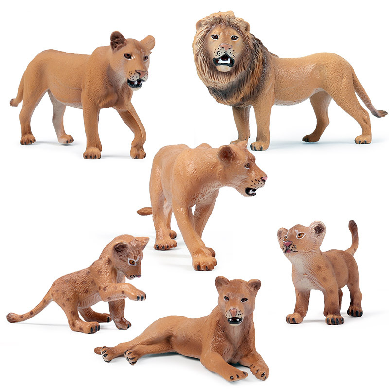 Small Size Africa Lion Animal Figure Collectible Toys Wild Animal Action Figures Kids Plastic Cement Toys
