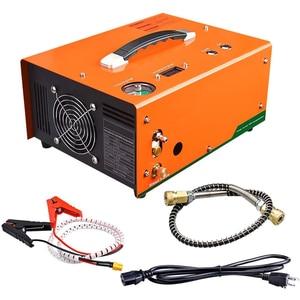 Image 2 - 12V 4500psi 300bar 30mpa PCP אוויר רכב מדחס מיני PCP משאבת עם 220V שנאי גבוהה לחץ Inflator רכב ציד
