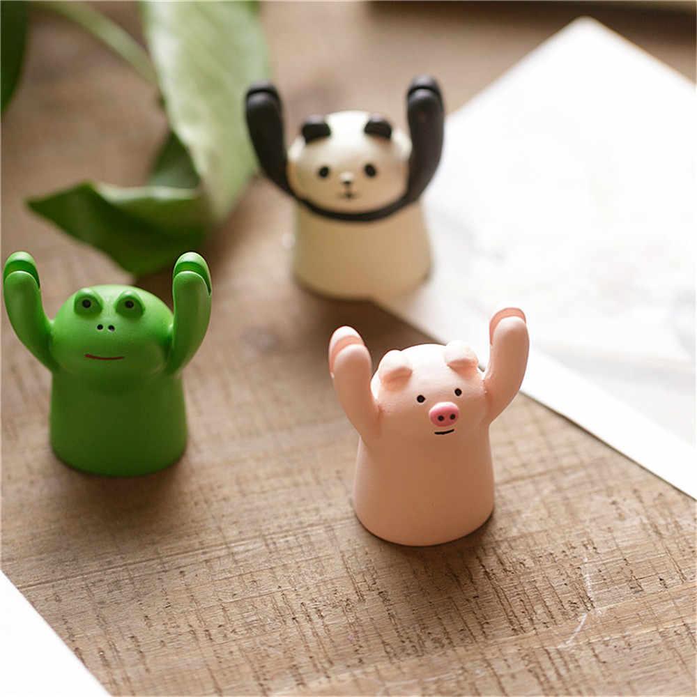 Милый мультяшный поросенок панда кошка лягушка Memo Клип держатель для карт Милая подставка для фото Kawaii украшения для торта держатель для карт Настольный Органайзер