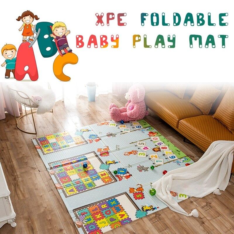 Bébé pliant tapis de jeu épaississement Protection de l'environnement ménage enfants tapis plancher Puzzle tapis 180x200CM épissage 1CM d'épaisseur
