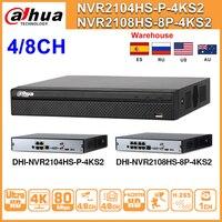 Dahua NVR2104HS P 4KS2 NVR2108HS 8P 4KS2 4CH 8CH POE NVR 4K Recorder Unterstützung HDD 4/8CH POE Für CCTV System Sicherheit kit.-in Überwachungsvideorekorder aus Sicherheit und Schutz bei