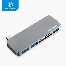 Хаг хаб 5 в 1 usb c для sd/tf картридер 31 адаптер macbook air