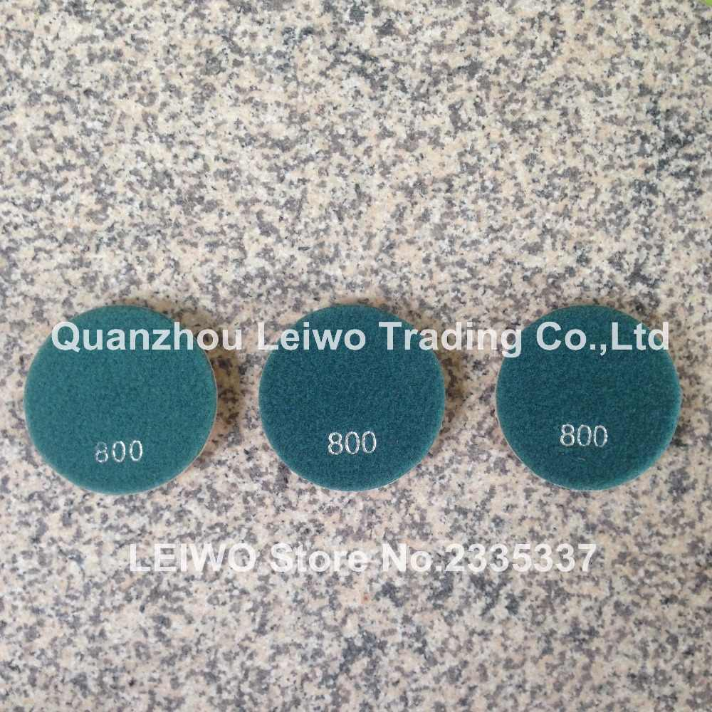 3 unids/lote Grit 800 Diamante de resina Typhoon 4 pulgadas (100mm) pulido de suelos Pad piedra granito mármol hormigón espesor húmedo 10 mm