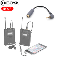 BOYA Microphone BY-CIP TRRS TRS Cable Adapter 3.5mm for mic iPad iPod Touch iPho
