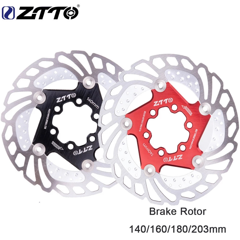 ZZTO MTB Cooling Disc Mountain Bike Downhill Floating Brake Disc Six Nail Floating Brake Disc 140/160/180 / 203mm Cooling Rotor