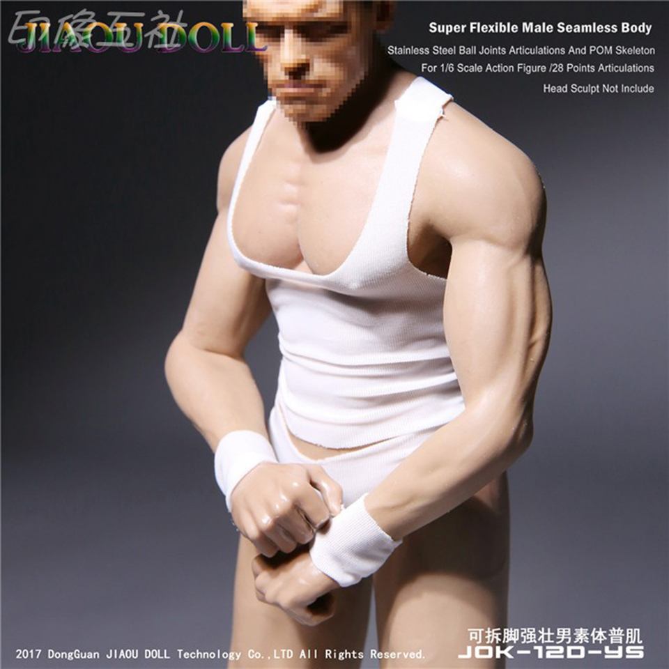 """JIAOU DOLL 1//6 Strong Male Body Model Detachable Foot For 12/"""" Figure Toy JOK-11C"""