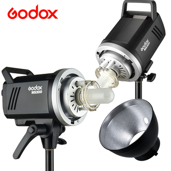 Godox MS200 200W or MS300 300W Studio Flash Built-in Godox 2.4G Wireless X System Lightweight Compact and Durable Bowens Mount F image