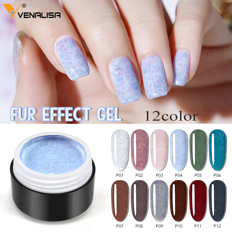 2020 New Arrival GDCOCO Faux Fur Gel Polish Luxury Fur Effect Long Lasting Time Soak Off UV LED Nail Lacquer Manicure