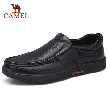 CAMEL Comfortable Genuine Leather Men Shoes Male Formal Business Loafers Men's Leather Casual Shoes Zapatos Mocasin Hombre 38-47 - DISCOUNT ITEM  20% OFF All Category
