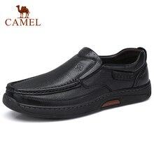 Zapatos de Hombre cómodos de piel auténtica CAMEL, mocasines formales de negocios masculino, Zapatos informales de cuero para Hombre, Zapatos de moda para Hombre 38 47