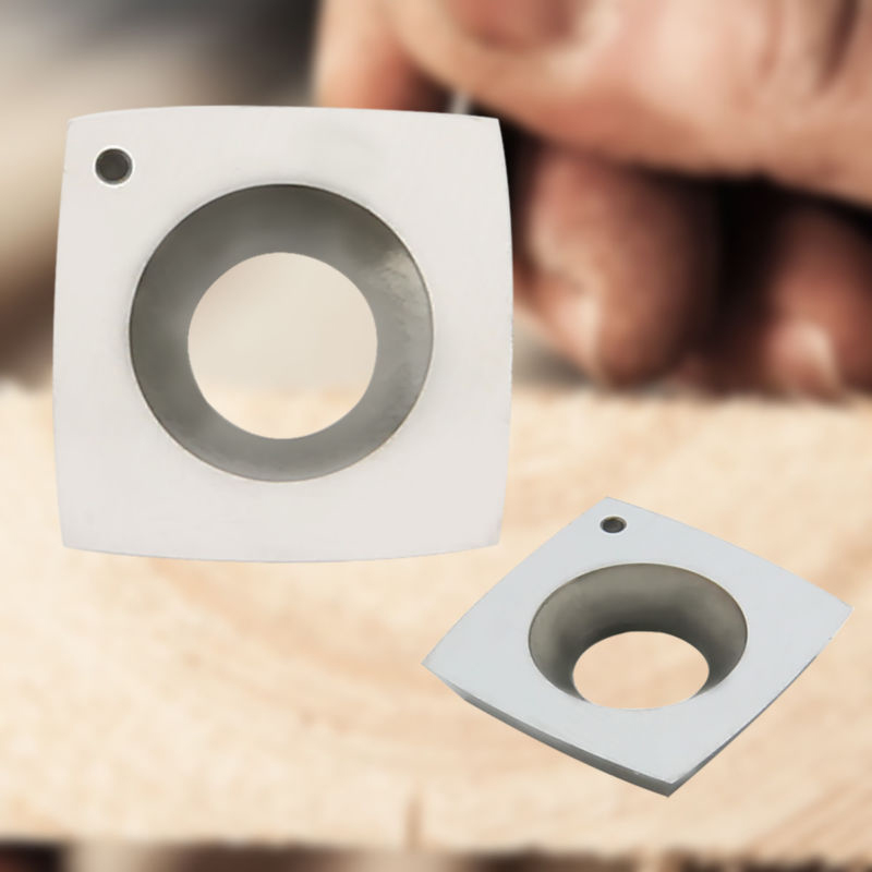 15mm Square 2 Radius Carbide Insert 4 Cutting Edges For Wood Working Byrd Head