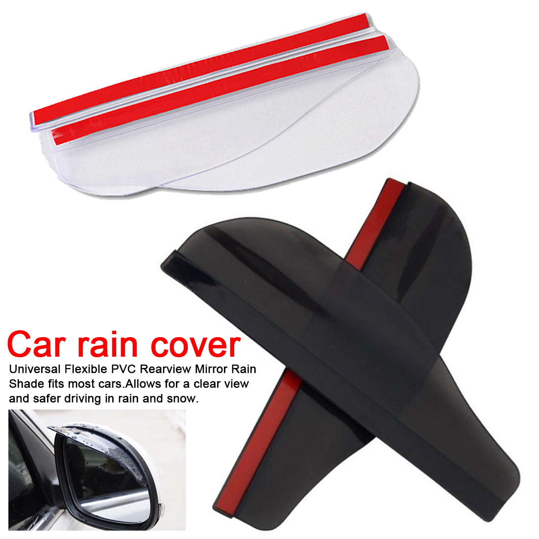 2 Pieces Car side Mirror waterproof Sun Visor Rain Eyebrow Auto Car Rear View Side Rain Shield Flexible Protector For Car