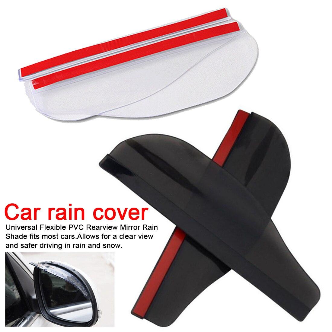 2 peças espelho lateral do carro à prova dwaterproof água sol viseira chuva sobrancelha carro auto vista traseira lado chuva protetor flexível para carro