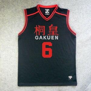Image 4 - Camiseta de Anime Kuroko No basike, disfraz de Cosplay, uniforme deportivo de equipo de baloncesto escolar de Gakuen, Aomine Daiki maillot, Envío Gratis