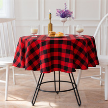 American Red And Black Checkered Tablecloth Amazon  Plaid Round Party Decoration Restaurant Home Wedding Tablecloth Placemat