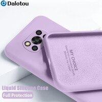 Flüssigkeit Silikon Stoßfest Fall Für Xiaomi Mi Poco X3 Pro NFC F3 M3 F2 Redmi Hinweis 10 9 8 7 pro Max 10S 9S 8T 9A 9C 9T Weiche Abdeckung