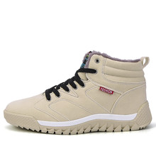 Botas masculinas sapatos tênis de inverno botas de neve botas de neve plana casual quente de pelúcia plus size botas de pele para homem preto 666