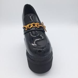 Image 5 - 女性の加硫靴スニーカープラットフォーム 14 センチメートルウェッジヒールシルク弓白人女性カジュアルシューズ 2019 春夏レース靴