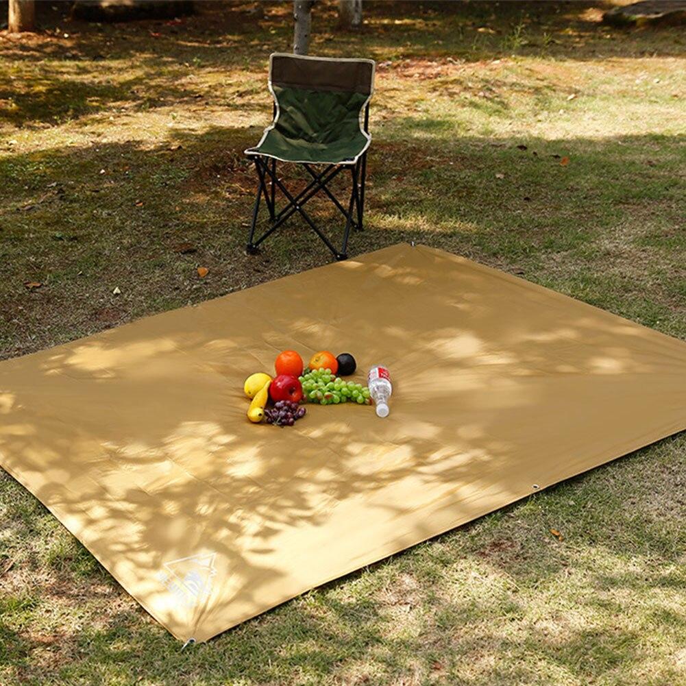 Пикник коврик пол кемпинг водонепроницаемый солнце укрытие открытый палатка пляж тень ткань зонтик навес сад навес