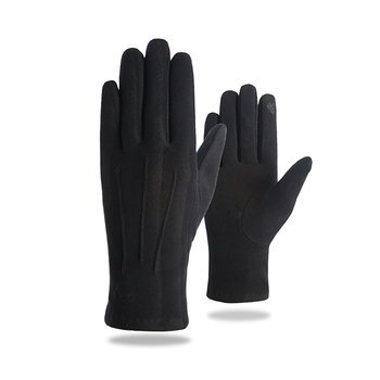 цена на Fashion Ladies Gloves Autumn Winter Rabbit Fur Touch Screen Cute Warm Full Finger Mittens Female Cashmere Gloves