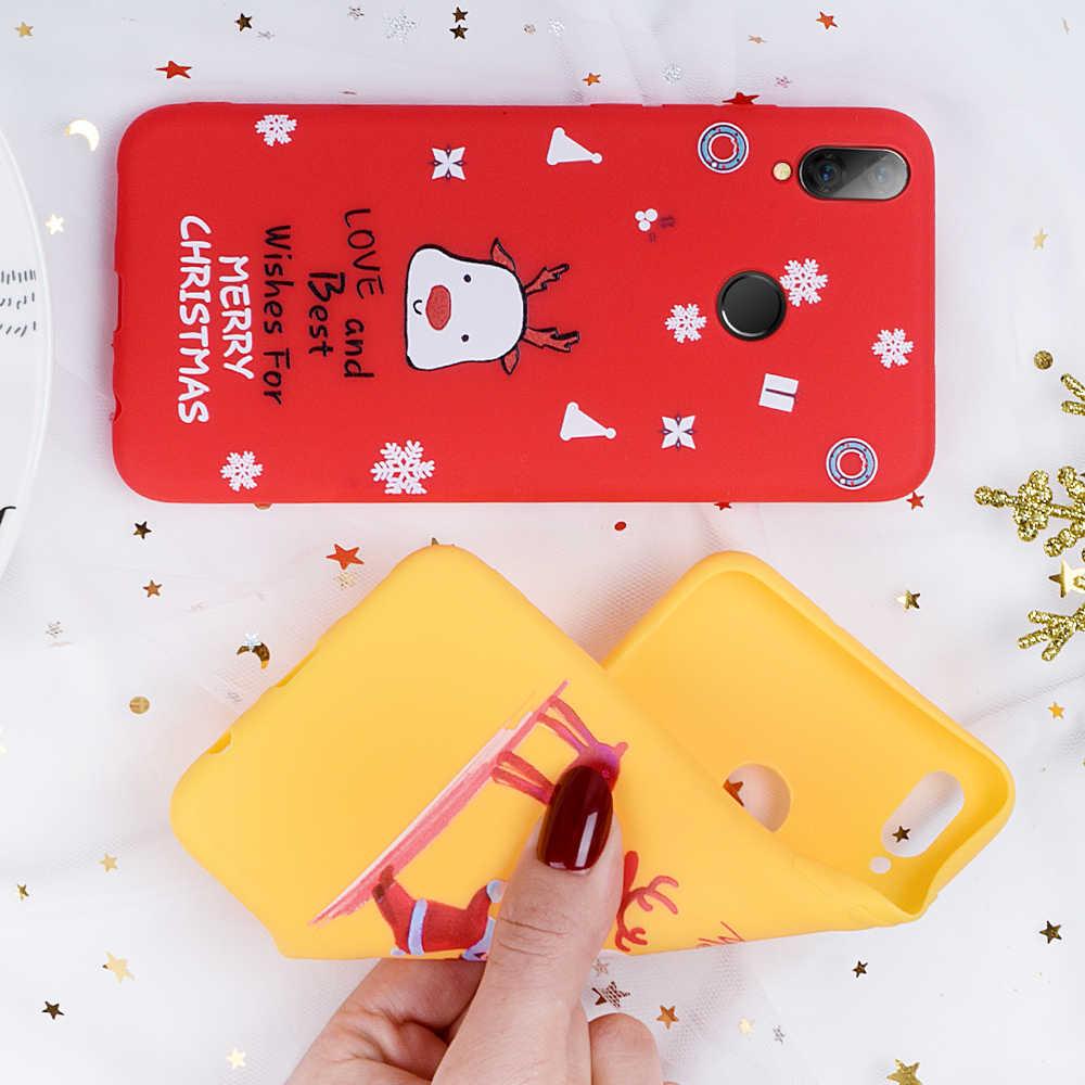 Étui pour Xiao mi rouge mi Note 7 étui mignon dessin animé noël cerf et bonhomme de neige housse pour Xiao mi 9 SE mi 8 9t Pro rouge mi K20 Pro TPU