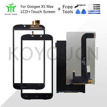 Top Quality For Doogee X6 LCD Display +Touch Screen Assembly Repair Parts 5.5 inch Replacement Phone Accessories For Doogee x6 xuli x6 1880 x6 2000 x6 2600 x6 3200 eco solvent printers 144mxl belt printer parts