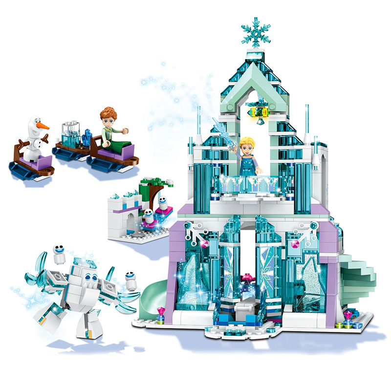 Disney Frozen Snow World серия Эльза волшебный ледяной замок набор принцесса Анна укладки Друзья Девушки строительные блоки кирпичи игрушки|Блочные конструкторы|   | АлиЭкспресс