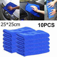 10 Pçs/set Microfiber Limpeza Do Carro Toalha de Limpeza Doméstica Toalha Pequena Brisa Pano Toalhas de Lavar Roupa Da Motocicleta Automóvel