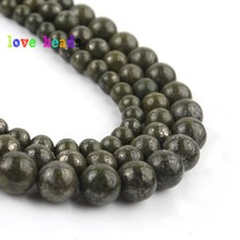 6/8/10mm Natural Green Lapis Lazuli Beads Round Loose Stone Beads for Jewelry Making DIY Beaded Bracelet 15 Minerals Perles 4 6 8 10 12mm matte blue sandstone round beads natural stone beads for jewelry making diy bracelet 15 perles minerals beads