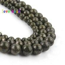 цена 6/8/10mm Natural Green Lapis Lazuli Beads Round Loose Stone Beads for Jewelry Making DIY Beaded Bracelet 15