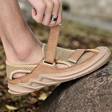 OUDINIAO Brand New Summer Men Casual shoes Breathable Mesh cloth Loafers Soft Flats Sandals Handmade Male Driving shoes