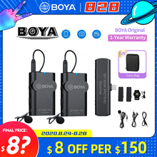 Boya BY WM4 Pro Lavalier Wireless Microphone Lapel Studio Mic for DSLR Cameras Sony DSLR Smartphone BY M1 Mic PK Comica BOOMX D