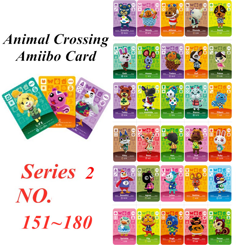Animal Crossing Card Amiibo NFC Card For Nintendo Switch NS Games Series 2  (151 To 180)