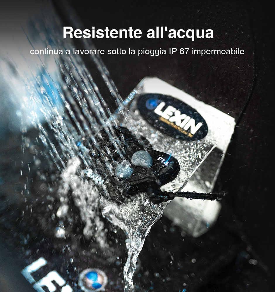 2019 LEXIN LX-FT4 2 adet 1-4 Rider motosiklet Bluetooth kask kulaklık interkom FM radyo ile motosiklet/off-Road/kar araci