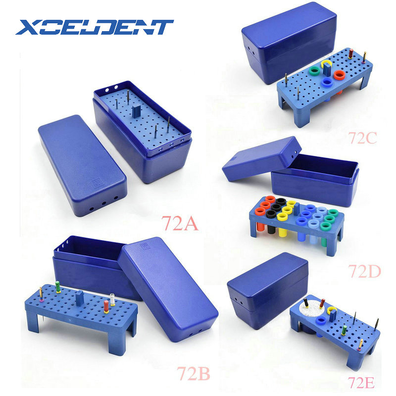 Dental Sterilize Box Dental Plastic 72H Endo Box For Diamond Burs Reamer/Gutta Percha Point