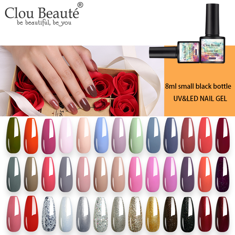 Clou Beaute  NEW 8ML 81 Colors Gel Nail Polish LED Soak Off UV Gel Varnish Lakiery Hybrydowe Gel Polish DIY Nail Art Lacquer
