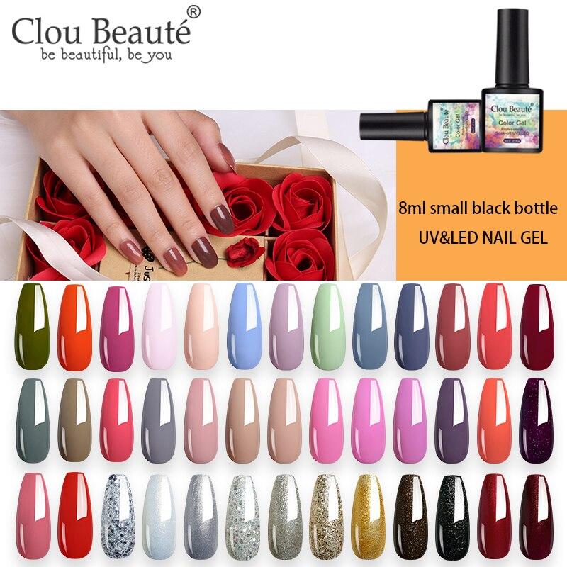 Clou Beaute  NEW 8ML 81 Colors Gel Nail Polish LED Soak Off UV Gel Varnish Lakiery Hybrydowe Gel Polish DIY Nail Art Lacquer
