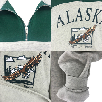 GOPLUS Women Hoodie Collar Sweatshirts Stand Half Zipper Letter Printing Long Sleeve Sweatshirts Vintage Casual Plus Size Hoodie 6