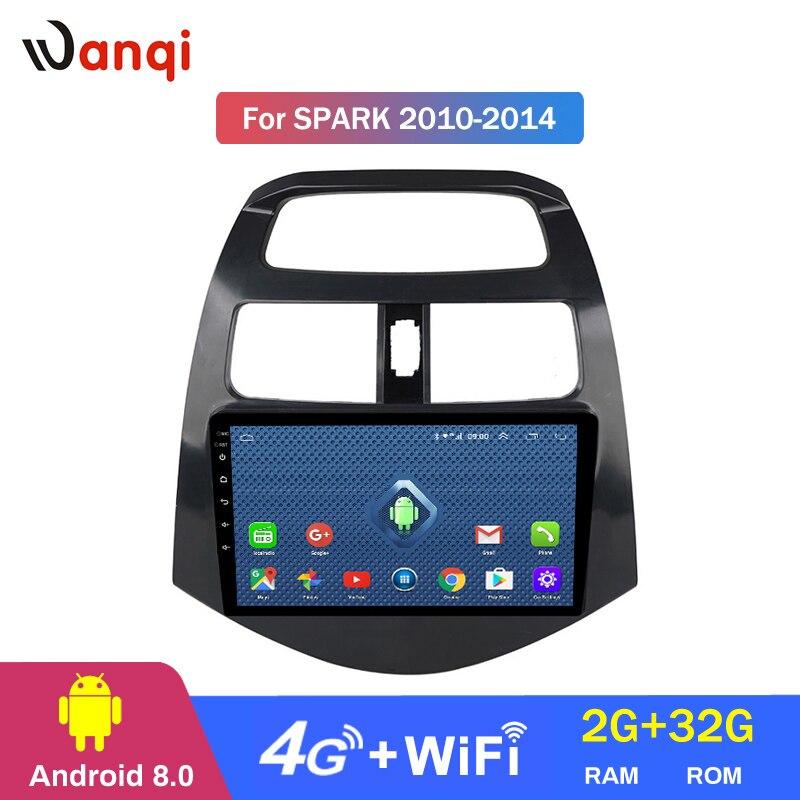 4G Lte wszystkie Netcom android 8.0 samochodowe PC odtwarzacz DVD nawigacja GPS samochodowe dla chevroleta 2010-2014 spark piłka odbija się