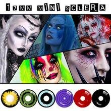 Lentilles de Contact Sclera 17MM, colorées, pour Cosplay, Sasuke Nezuko, pour Halloween