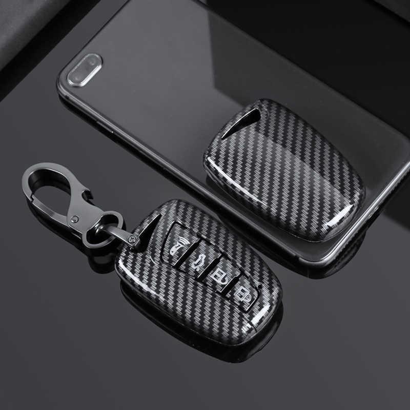 الكربون ABS سيارة مفتاح حافظة فوب غطاء لشركة هيونداي سانتا في جراند ix45 المئوية نشأة غطاء مفاتيح التشغيل اللاسلكية المفاتيح حامي حقيبة
