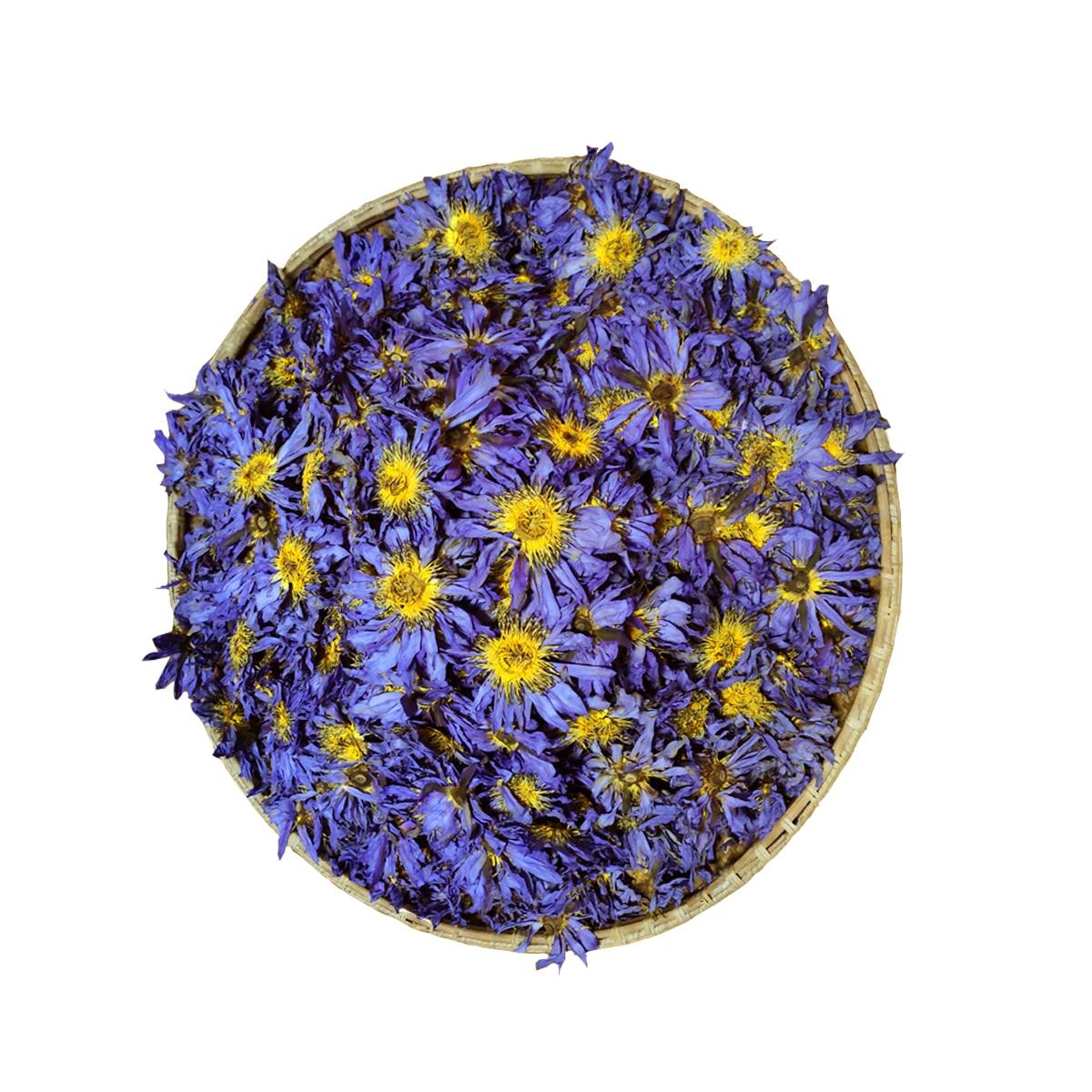 Органический синий Лотос, сушеный, цельный Цветущий цветок Нимфа
