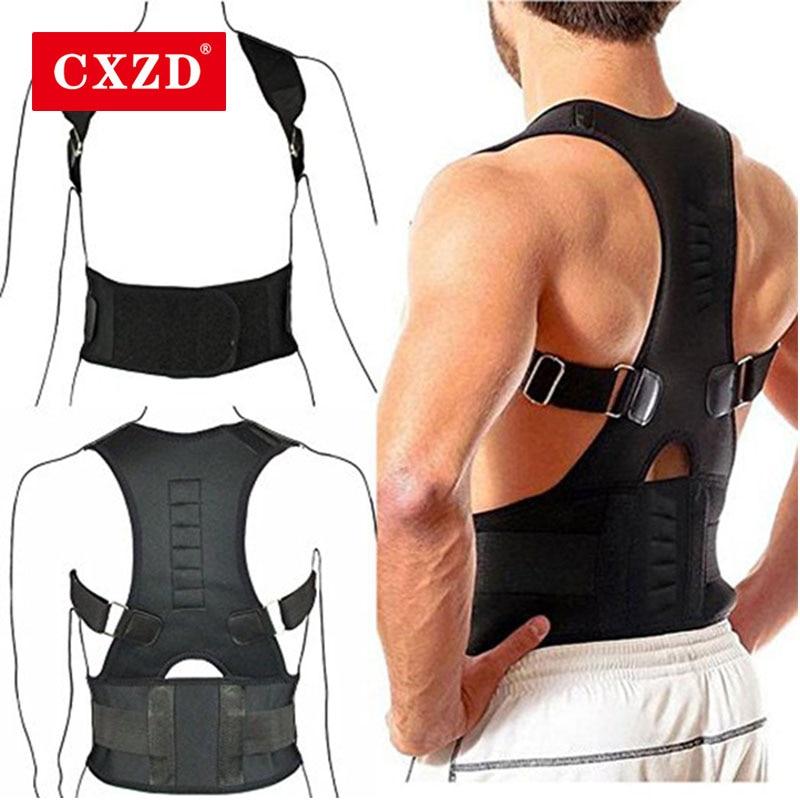 Cxzd postura magnética corrector volta cintas ombro cintura lombar suporte cinto jubarte corpo endireitar slouch compressão